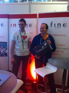 Antoine Ramponi et Nicolas de Loof sur le stand In Fine